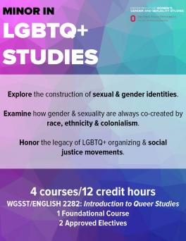 LGBTQ+ Studies Announcement Flyer