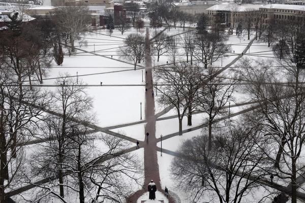 Ohio State Oval in Winter