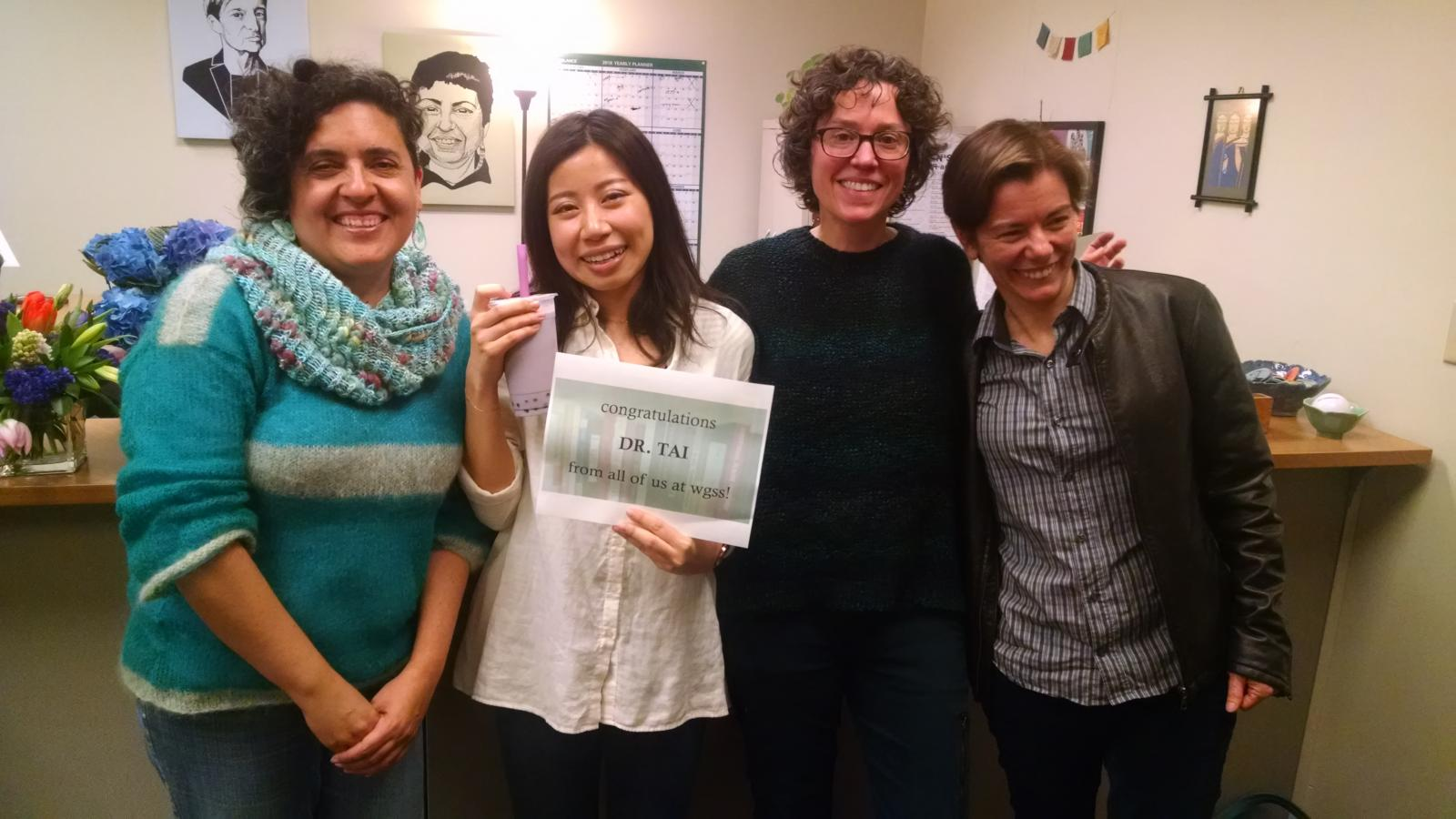 Ph.D. Graduate Brena Tai after Dissertation Defense