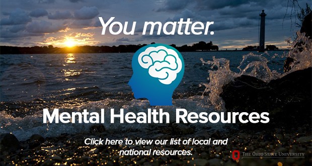 Advertisement for WGSS' list of local and national resources for mental health.