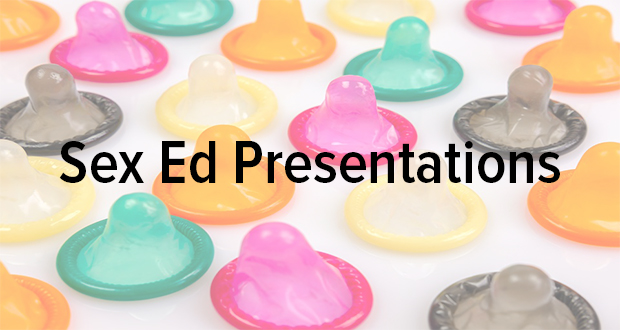 Advertising requests for sex education presentations.